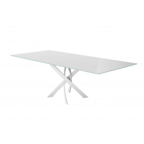 Fairmont Sirocco 160-200cm Ext White Glass Swivel Di...
