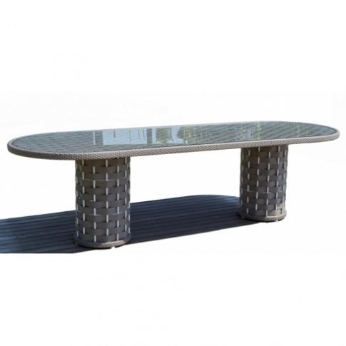 Skyline Dynasty Rattan 8 Seater Oval Dining Table