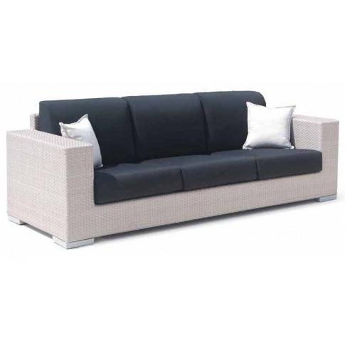 Skyline Brando Silver Walnut Rattan 3 Seater Sofa