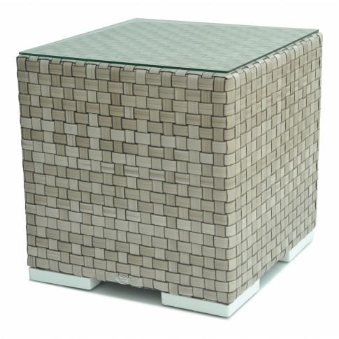 Skyline Brando Silver Walnut Rattan Side Table