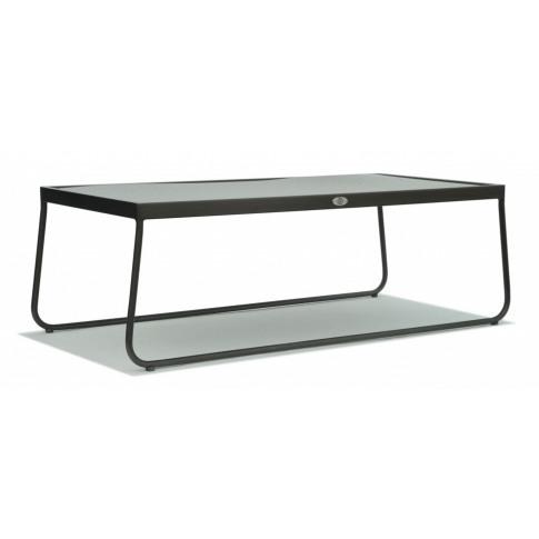Skyline Kona Grey Metal Rectangular Coffee Table