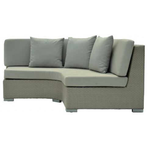 Skyline Pacific Silver Walnut Rattan Curved Corner Sofa