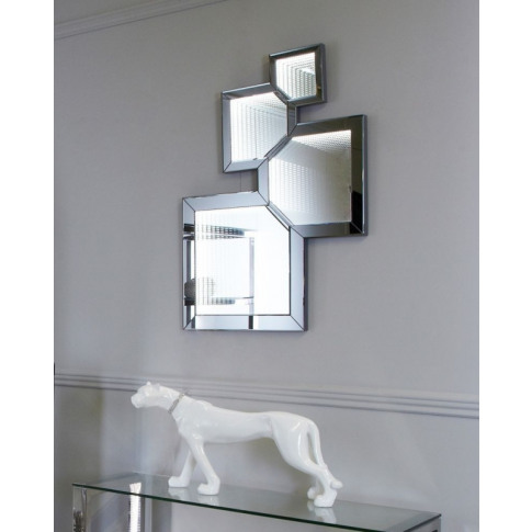 Smoked Mirror Infinity Abstract Wall Mirror