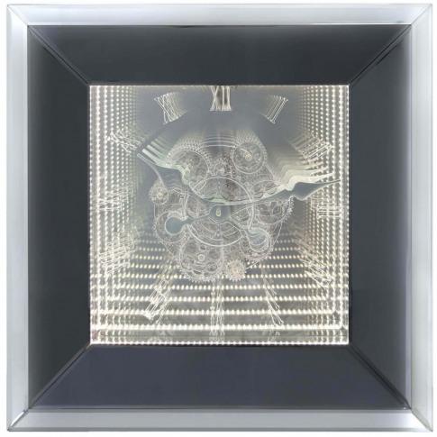 Smoked Mirror Infinity Wall Clock