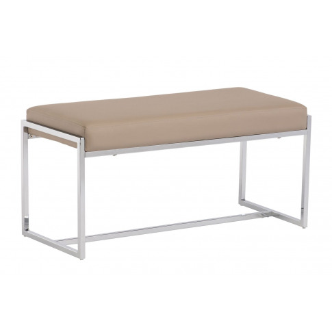 Soho Stone Leather Small Dining Bench