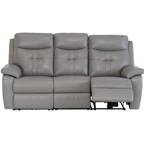 Sophia Grey Leather Electric 3 Seater Recliner Sofa