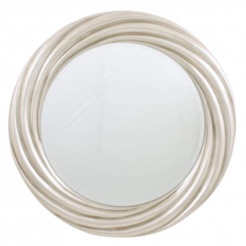 Rv Astley Swirl Silver Leaf Round Mirror
