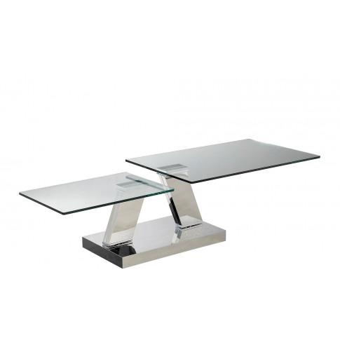 Fairmont Sparta Glass Swivel Coffee Table
