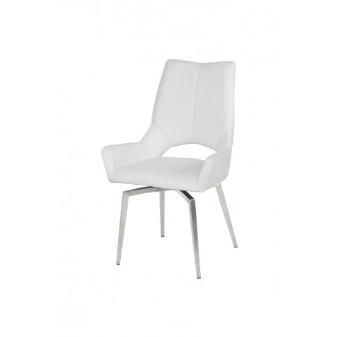 Fairmont Spinello White Swivel Leather Dining Chair