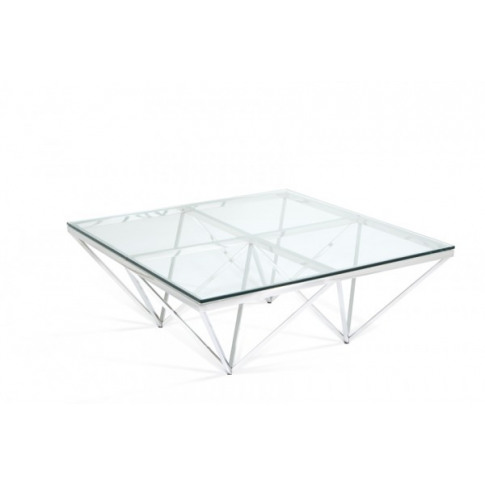 Serene Star Glass Top Square Stainless Steel Coffee ...