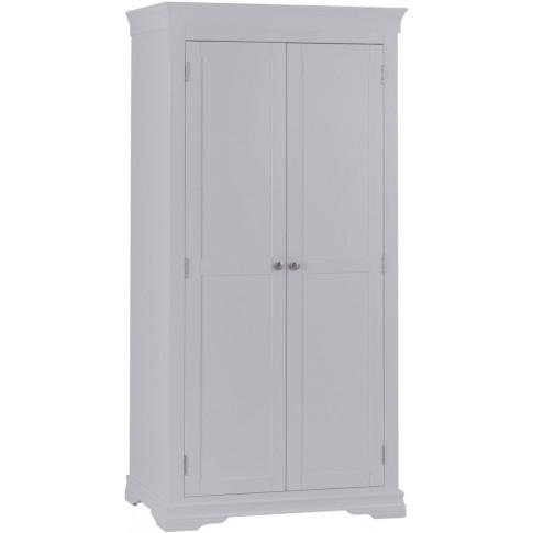 Steward Grey Wooden Full Hanging Wardrobe