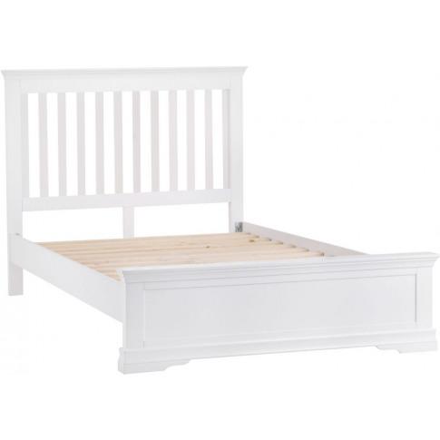 Steward White Wooden 5ft Kingsize Bed
