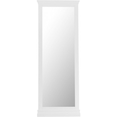 Steward White Wooden Cheval Mirror