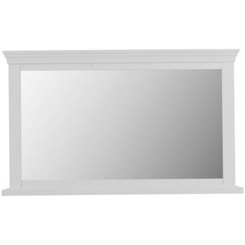 Steward White Wooden Wall Mirror