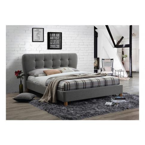 Birlea Stockholm 4ft6 Double Grey Fabric Bed