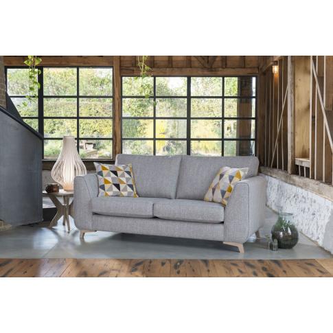 Alstons Stockholm 3 Seater Fabric Sofa