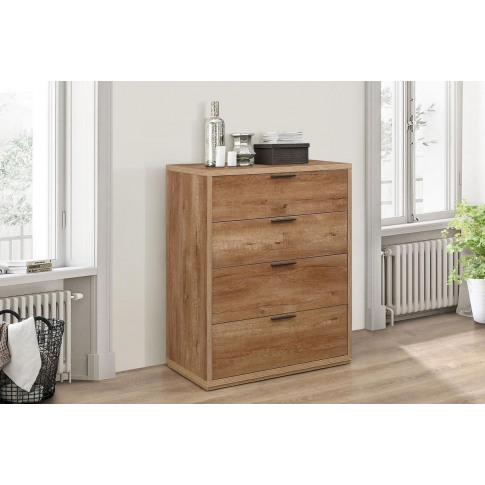 Stockwell Rustic Oak 4 + 2 Drawer Chest