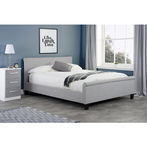 Stratus Grey Fabric 4ft Small Double Bed