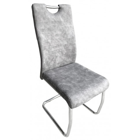 Talia Light Grey Suede Effect Dining Chair