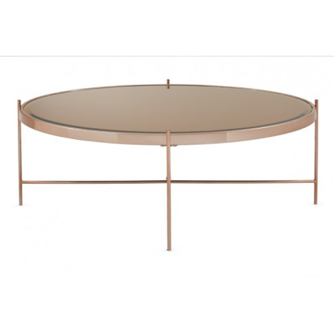 Serene Taurus Mirror Top Rose Gold Plated Coffee Table