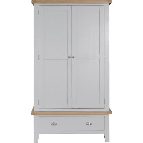 Titan Grey Oak Large 2 Door Wardrobe