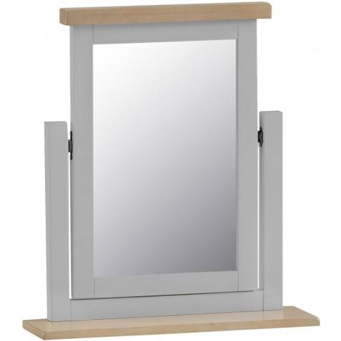 Titan Grey Oak Trinket Mirror