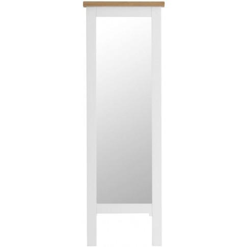 Titan White Oak Cheval Mirror