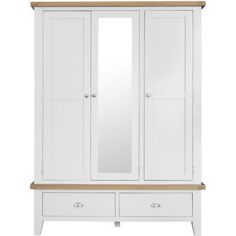 Titan White Oak Large 3 Door Wardrobe