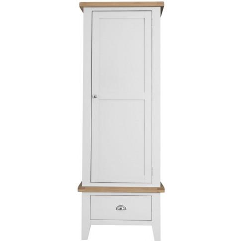 Titan White Oak Single Wardrobe