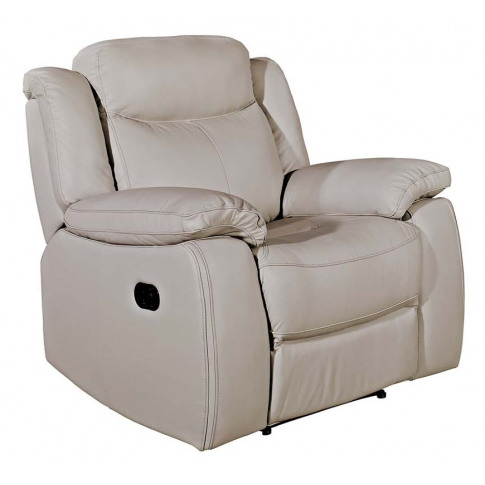 Torretta 1 Seater Light Grey Leather Recliner Armchair