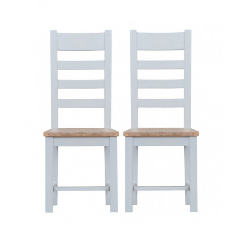 Titanic Ladder Back Wooden Seat Grey Oak Dining Chair