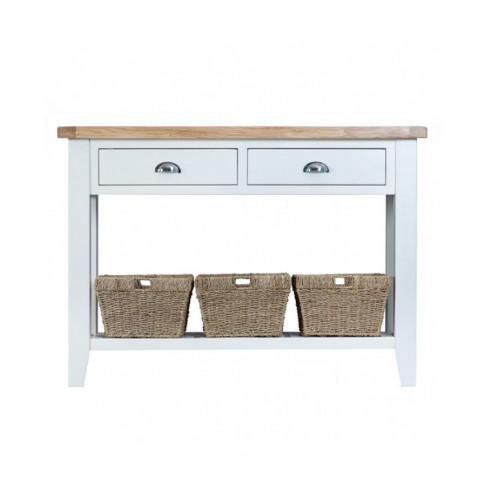 Titanic White Oak Large Console Table