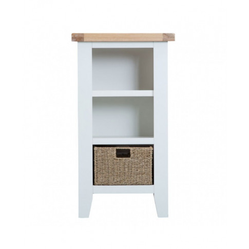 Titanic White Oak Small Narrow Bookcase
