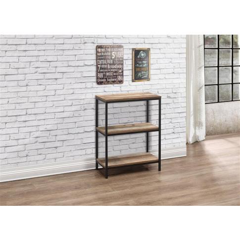 Urban Rustic Wooden 3 Tier Bookcase