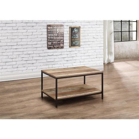 Urban Rustic Wooden Coffee Table
