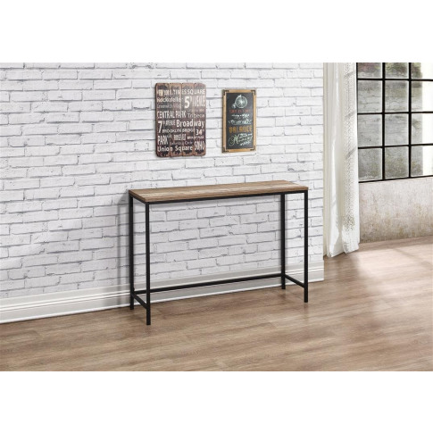Urban Rustic Wooden Console Table