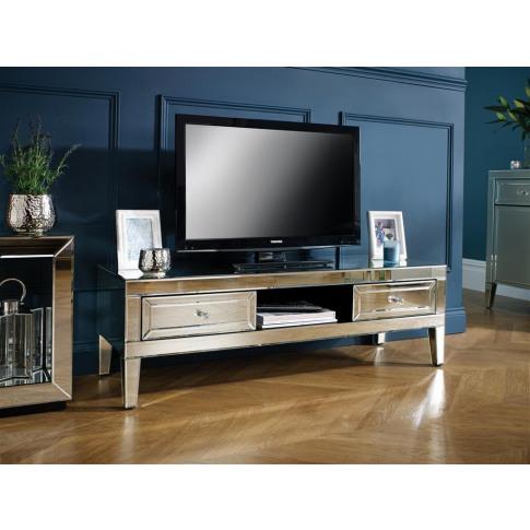 Valencia Mirrored Tv Cabinet