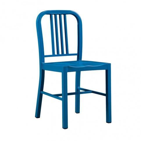 Valetta Blue Metal Dining Chair