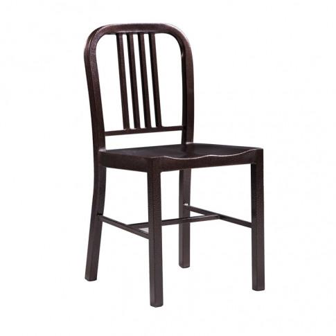 Valetta Style Dark Copper Metal Dining Chair