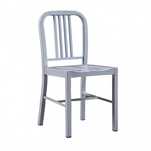 Valetta Style Silver Metal Dining Chair