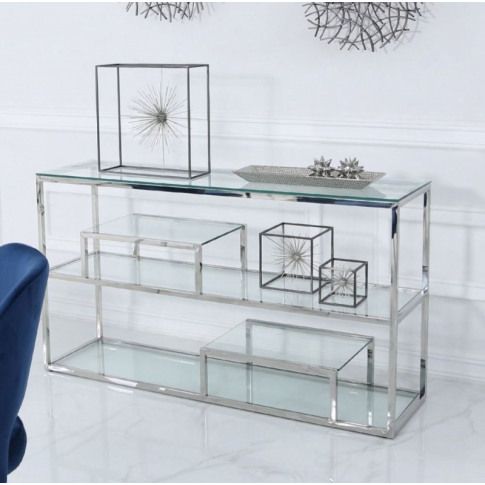 Value Harry 3 Shelf Stainless Steel Console Table