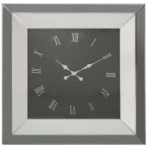 Value Smoked Mirror Fabiana Wall Clock