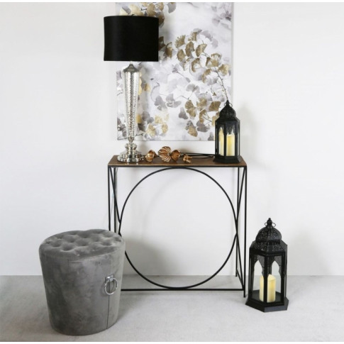 Value Sushi Black And Gold Metal Console Table