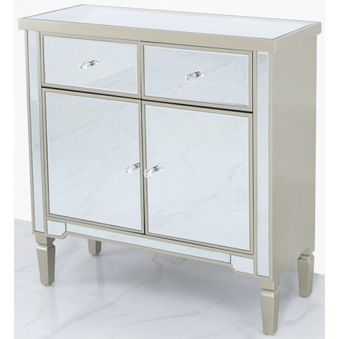 Value Vito 2 Door Champagne Mirrored Sideboard