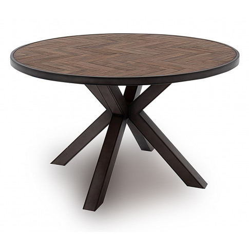 Vanya 130cm Light Brown Round Wooden Dining Table