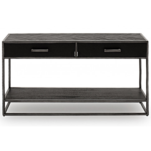Vanya Dark Brown Wooden Console Table