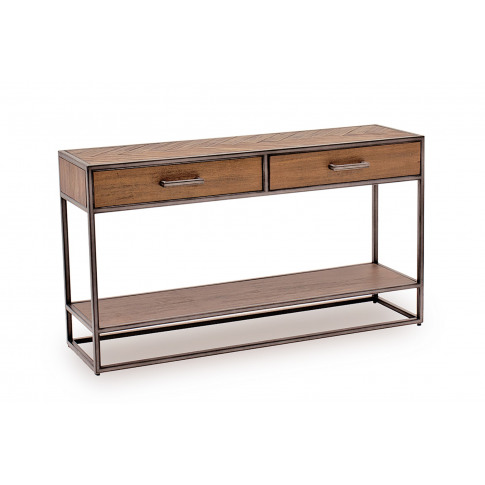 Vanya Light Brown Wooden Console Table