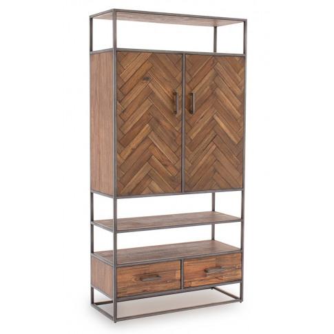 Vanya Light Brown Wooden Display Cabinet