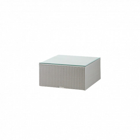Westminster Valencia Ottoman With Glass Platinum