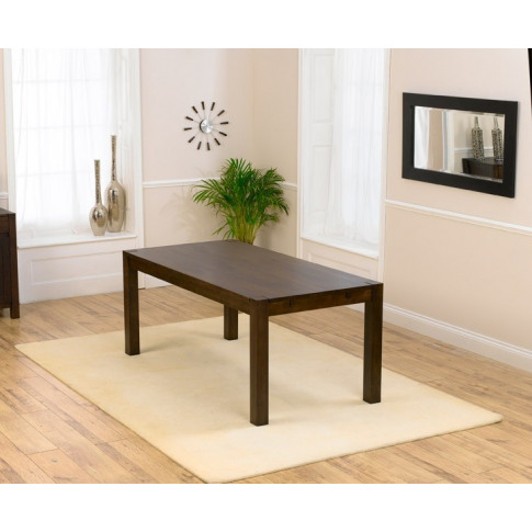 Verona Dark Brown Solid Oak Dining Table In A Finger...